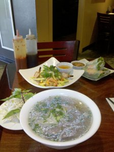 Pho, Spring Rolls, and Mango Salad at The Signature in Queen Anne of Seattle, Washington